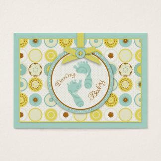 Süßes Baby Toes Geschenk-Umbau Visitenkarte