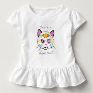 Süßes Baby-Zuckerschädel-Rüsche-T-Stück Kleinkind T-shirt