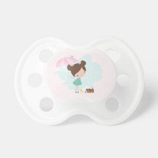 Süßes Babymädchen 0-6 Monate BooginHead® Schnuller
