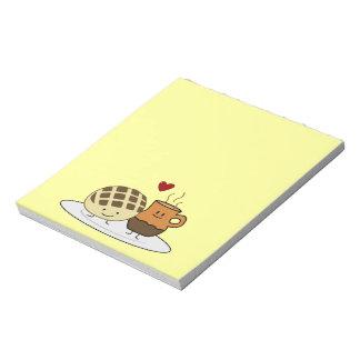 Süßes Brot-und heiße Schokoladen-Pan caliente Notizblock