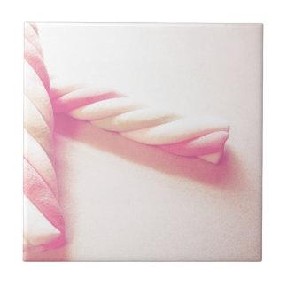 Süßes Drehungs-Süßigkeits-Foto Kleine Quadratische Fliese
