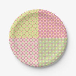 Süßes Geschäfts-Tupfen-Patchwork Pappteller
