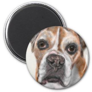 Süßes Gesichts-Hündchen Runder Magnet 5,7 Cm
