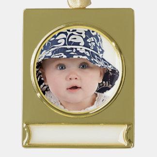 Süßes Haney Bild Banner-Ornament Gold