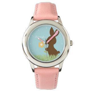 Süßes Häschen-Kaninchen personalisiert Uhr