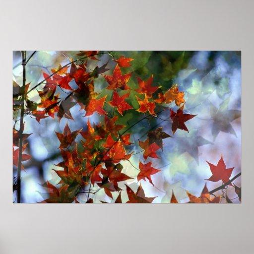 Süßes Herbst-Plakat