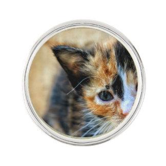 Süßes Kätzchen, das SIE betrachtet Anstecknadel