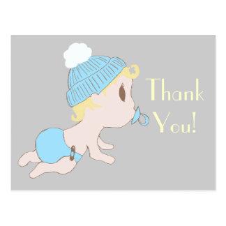 Süßes kleines Baby danken Ihnen, Postkarten zu mer