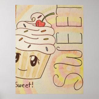 Süßes Kuchen-Plakat