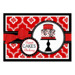 Süßes Kuchen-Visitenkarte-Rot