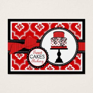 Süßes Kuchen-Visitenkarte-Rot Visitenkarte