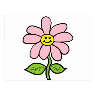Süßes lächelndes Gänseblümchen Postkarte