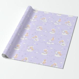 Süßes Lamm auf Wolke Einpackpapier
