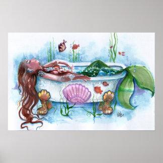 Süßes Leben, Meerjungfrau in einer Badewanne Poster