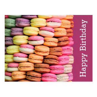 Süßes Macarons alles Gute zum Geburtstag Postkarte