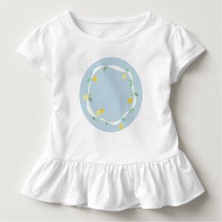 Süßes Mädchen-T-Stück mit Kreis der Gänseblümchen Kleinkind T-shirt