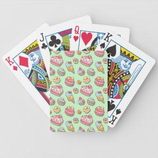 Süßes Muster Bicycle Spielkarten