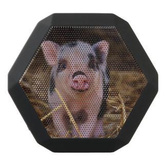 Süßes niedliches Schwein Schwarze Bluetooth Lautsprecher