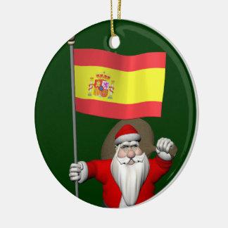Süßes Papá Weihnachten-wellenartig bewegendes La Keramik Ornament