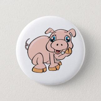 Süßes Piggy Runder Button 5,1 Cm
