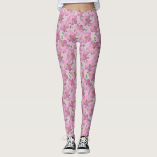 Süßes rosa Garten-Blumen-mit Blumenmuster Leggings
