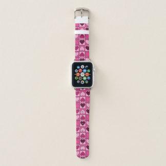 Süßes rosa Herz-Muster Apple Watch Armband