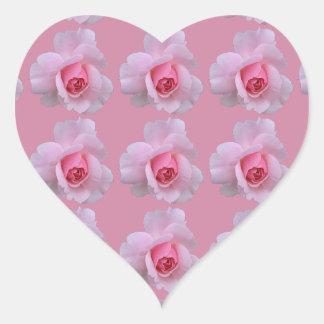 Süßes rosa Rosen-Herz-geformte Aufkleber