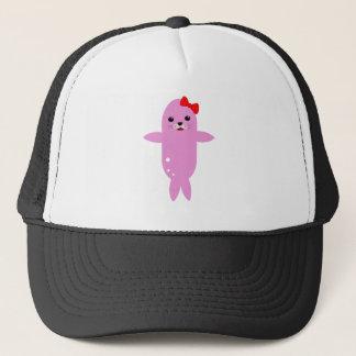 Süßes rosa Siegel Truckerkappe