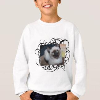 Süßes siamesisches sweatshirt