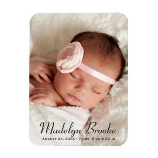 Süßes Skript der Foto-Geburts-Mitteilungs-| Recchteckiger Magnet