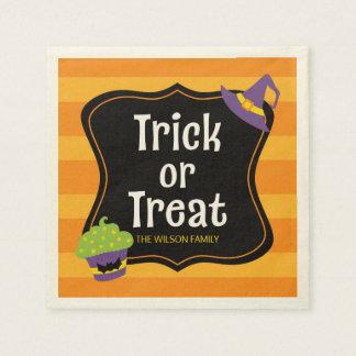 Süßes Trick-oder Leckerei-Halloween-Party Serviette