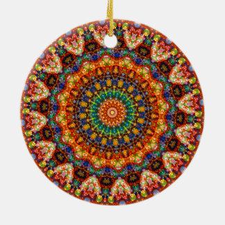 Süßes u. buntes Geleebonbon-Mandala-Kaleidoskop Keramik Ornament