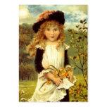Süßes viktorianisches Art-Geschenk etikettiert das Visitenkarte