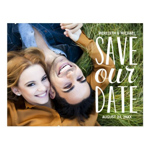 Süßes Whimsy | Foto Save the Date Postkarten