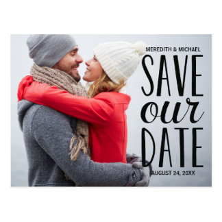 Süßes Whimsy | Foto Save the Date Postkarte