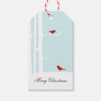Süßes Winter-Vogel-Weihnachten Geschenkanhänger