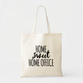 Süßes Zuhausebüro des Zuhause Budget Stoffbeutel