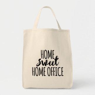 Süßes Zuhausebüro des Zuhause Einkaufstasche