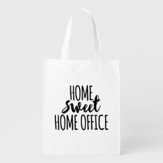 Süßes Zuhausebüro des Zuhause Wiederverwendbare Einkaufstaschen
