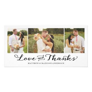 Süßeste Liebe Wedding | danken Ihnen Foto-Karte Individuelle Foto Karten