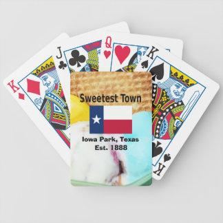"""""""Süßeste Stadt"""" Entwurf für Iowa-Park, Texas Bicycle Spielkarten"""
