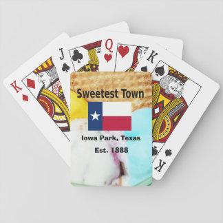 """""""Süßeste Stadt"""" Entwurf für Iowa-Park, Texas Spielkarten"""