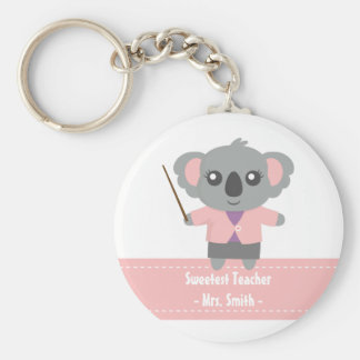 Süßester Lehrer, niedlicher Koala-Bär, Anerkennung Schlüsselanhänger