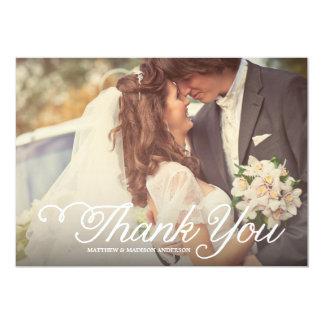 Süßester Tag Wedding | danken Ihnen Foto-Karte 12,7 X 17,8 Cm Einladungskarte