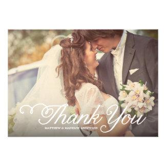 Süßester Tag Wedding danken Ihnen Foto-Karte