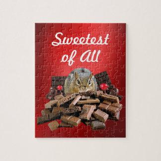 Süßester TagesschokoladeChipmunk Puzzle