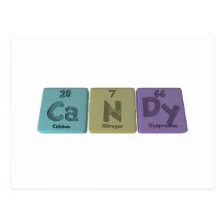 Süßigkeit als Kalziumstickstoff Dysprodium Postkarte