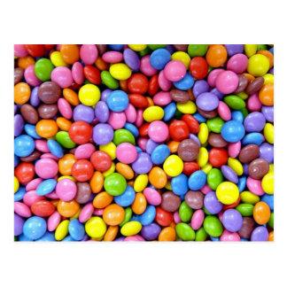 Süßigkeit: Bunte Süßigkeiten Postkarte