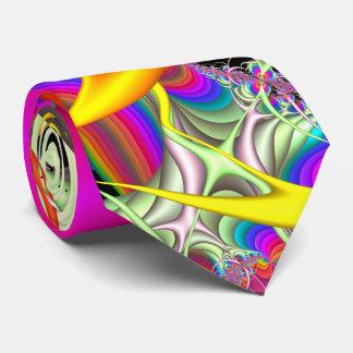 Süßigkeit färbt doppelseitige Fraktal-Krawatte Krawatte