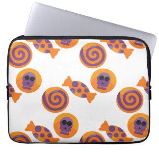 Süßigkeit mit Schädelmuster Halloween Laptopschutzhülle